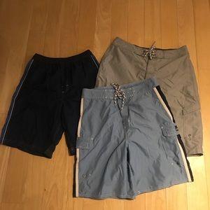 Men's swim broad shorts bundle